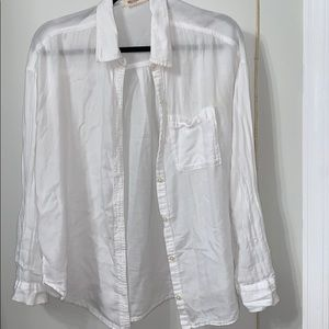 Hollister white flannel (S)